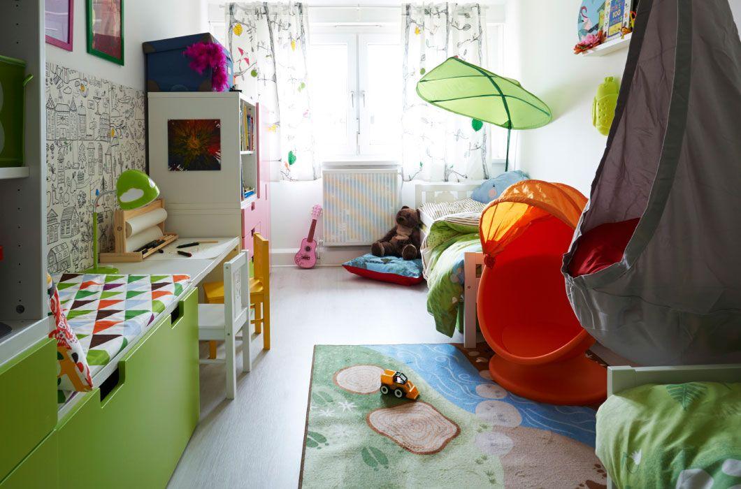 兒童房改造,多彩家具