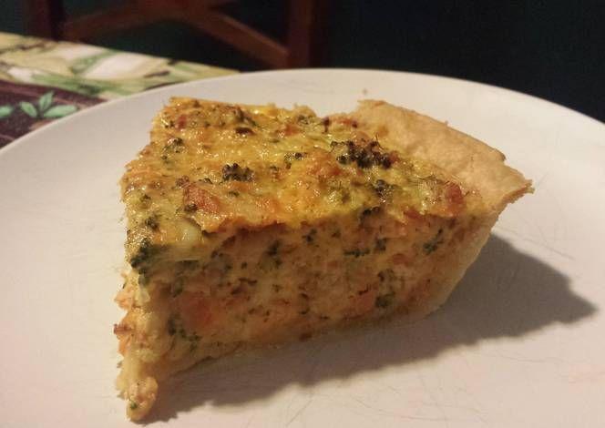 Salmon & Broccoli Quiche Recipe -  Are you ready to cook? Let's try to make Salmon & Broccoli Quiche in your home!