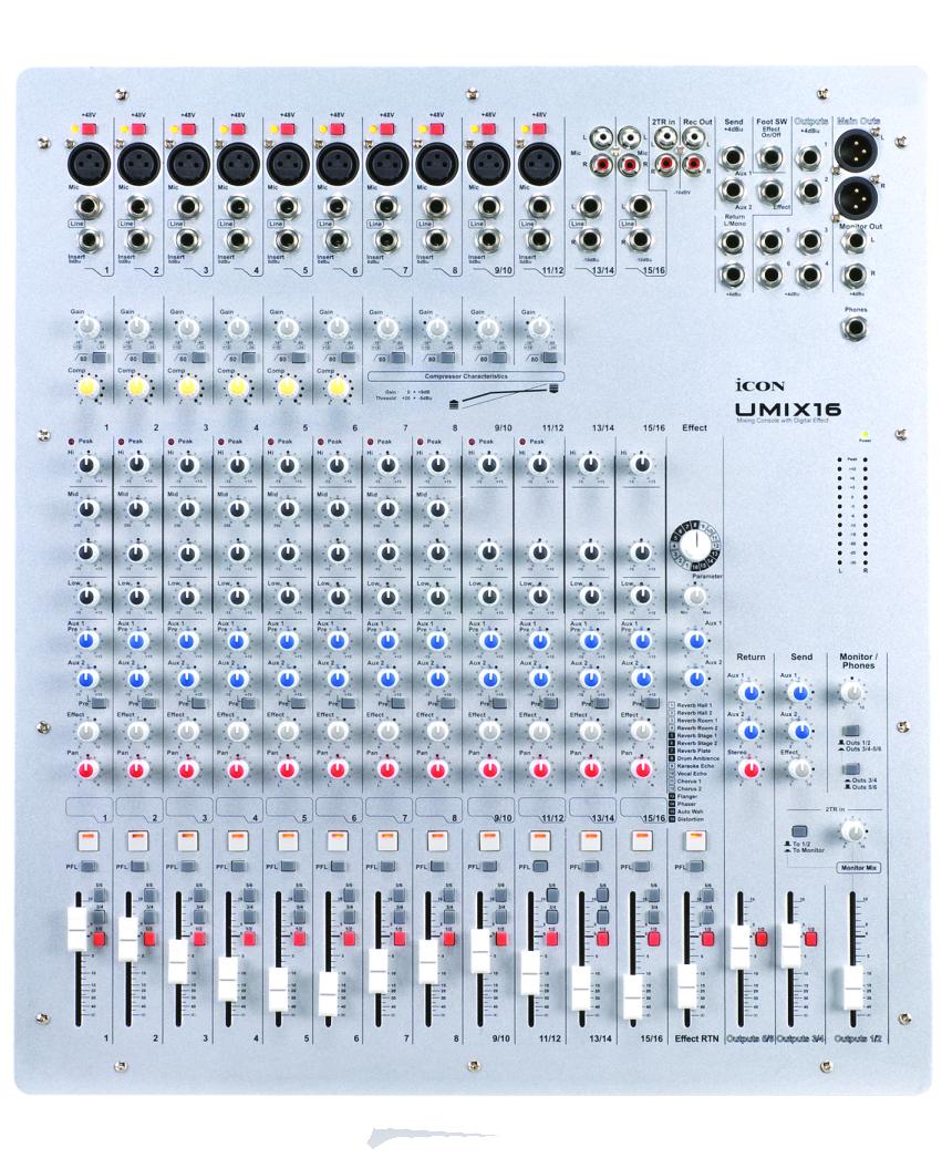 Umix 16 Mixer Icon Digital Usa Mixer Audio Icon