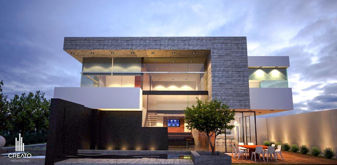 H bitat el carmen fachada lateral por creato arquitectos - Arquitectos casas modernas ...