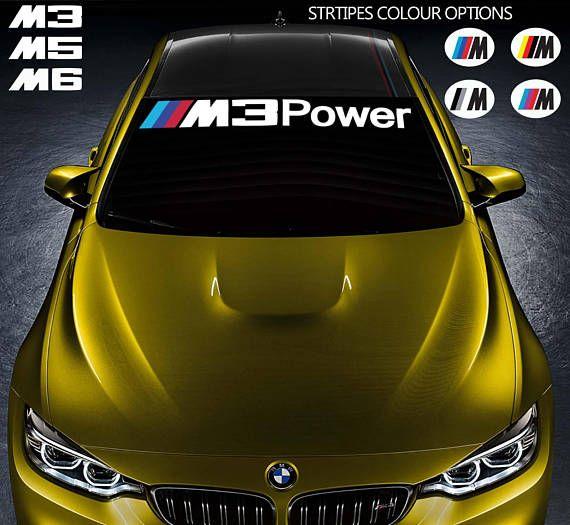 For BMW M3 M5 M6 POWER Car VINYL Sticker Windshield Banner