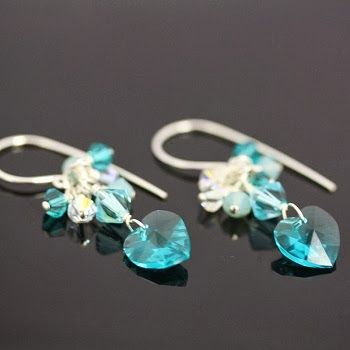 """Beading the """"Bead World"""" Way: Steal My Heart Earrings. Learn to make your own DIY Swarovski crystal heart earring for Valentine's Day and beyond with this simple, easy tutorial."""