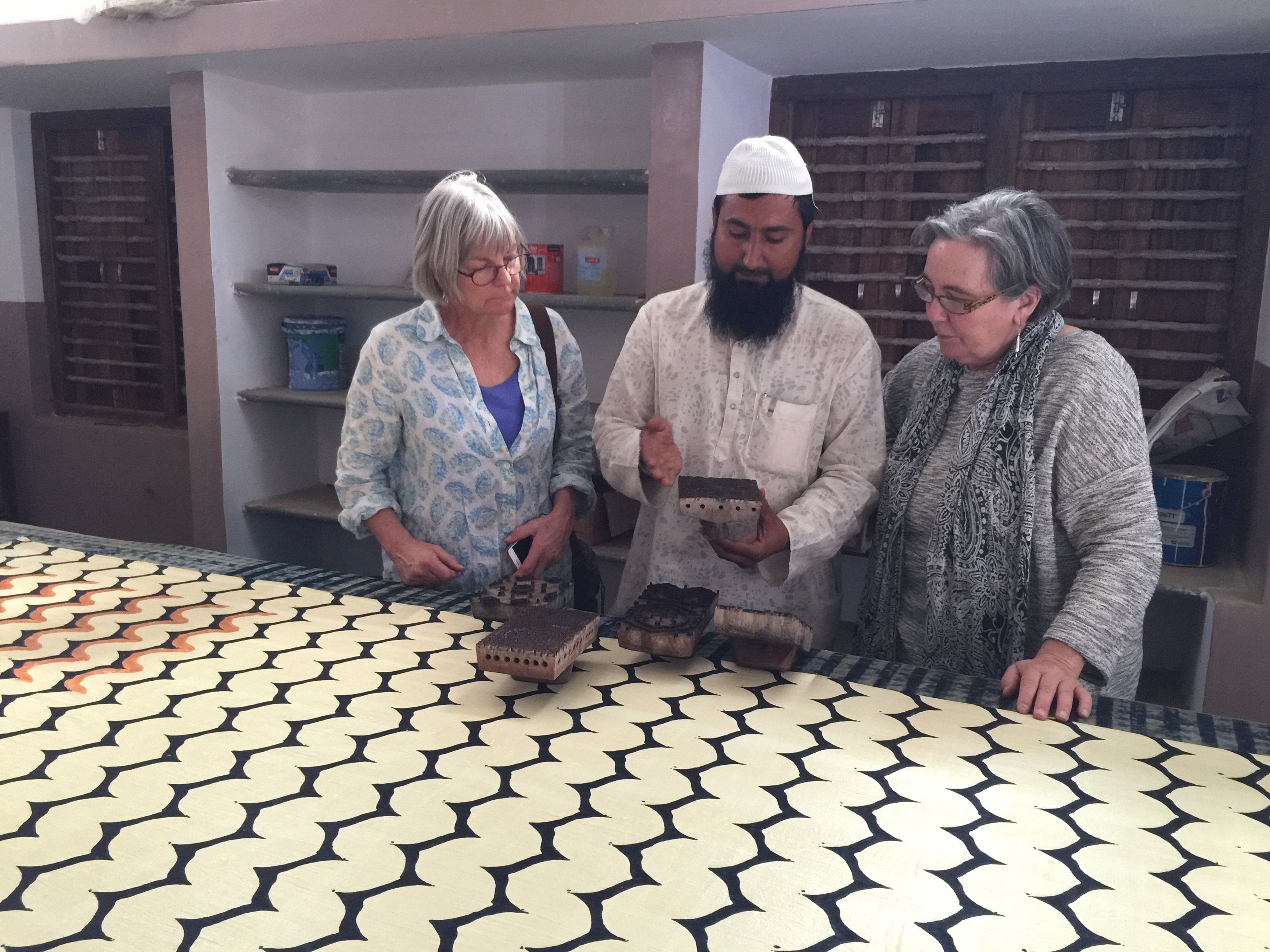 Visiting block printing in Gujarat. India