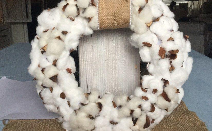 Cotton Ball Wreath Tutorial Our Crafty Mom Ball Wreath Wreath Tutorial Cotton Boll Wreath
