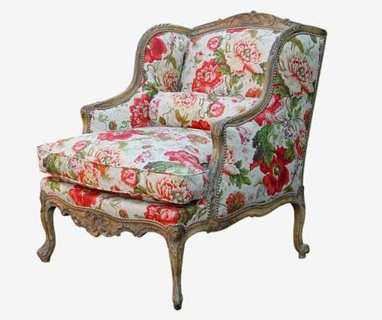 Sofa Upholstery Ideas For French Vintage Furniture Upholstery Fabric With Floral Pattern In