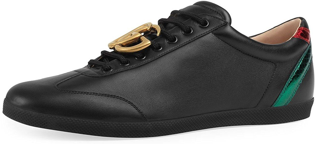 286ef276c6f Amazon.com  Gucci Men s Bambi GG Leather Low-Top Sneaker