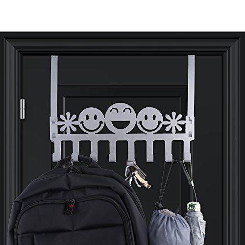 Wintek Over Door Hooks Heavy Duty Over The Door Rack Hook Organizer For  Coat,Towel