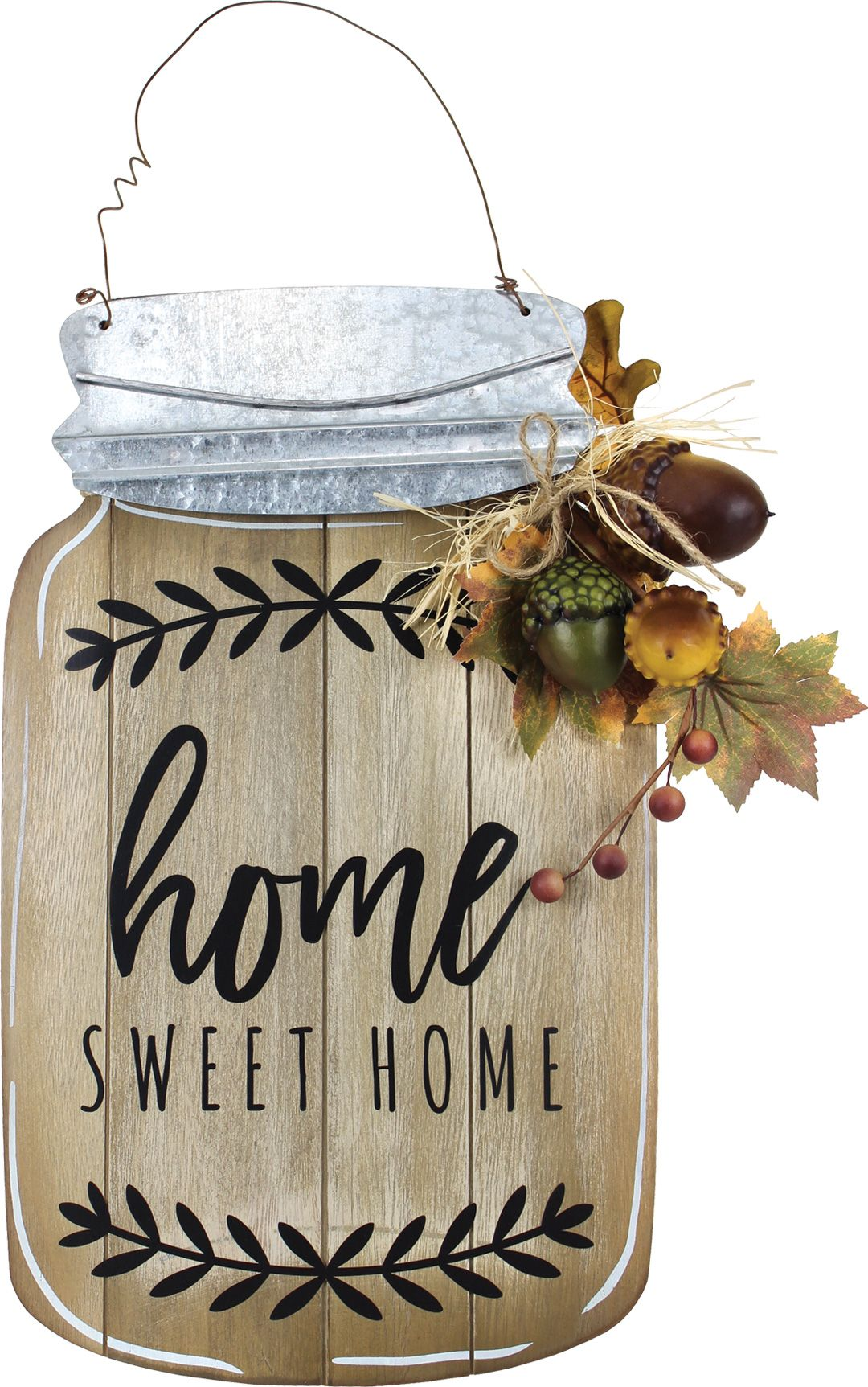 Home Sweet Home Mason Jar Plaque