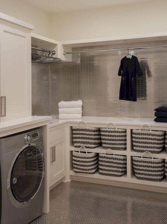 Nice 35 Small Laundry Room Storage Organization Ideas on A Budget