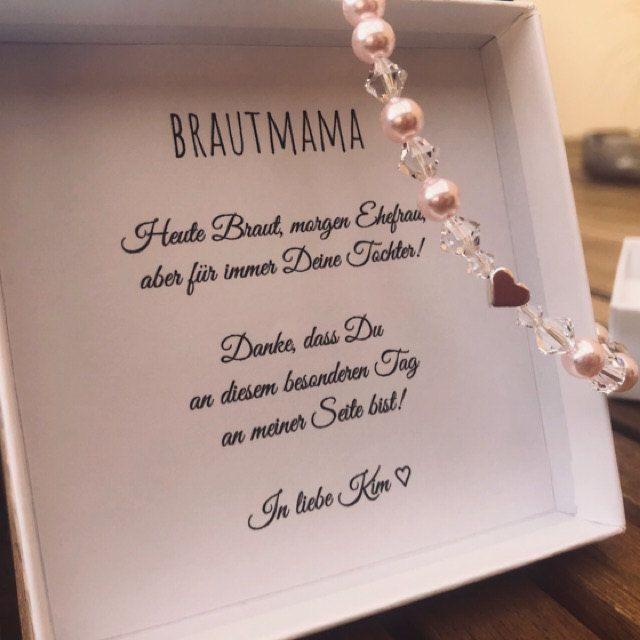 Brautmutter Geschenk, Braut Mama Armband Geschenkbox, perlenarmband brautmama hochzeit