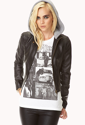 Cool Girl Cropped Bomber Jacket | FOREVER21 - 2073318876 | ClOtHeS ...