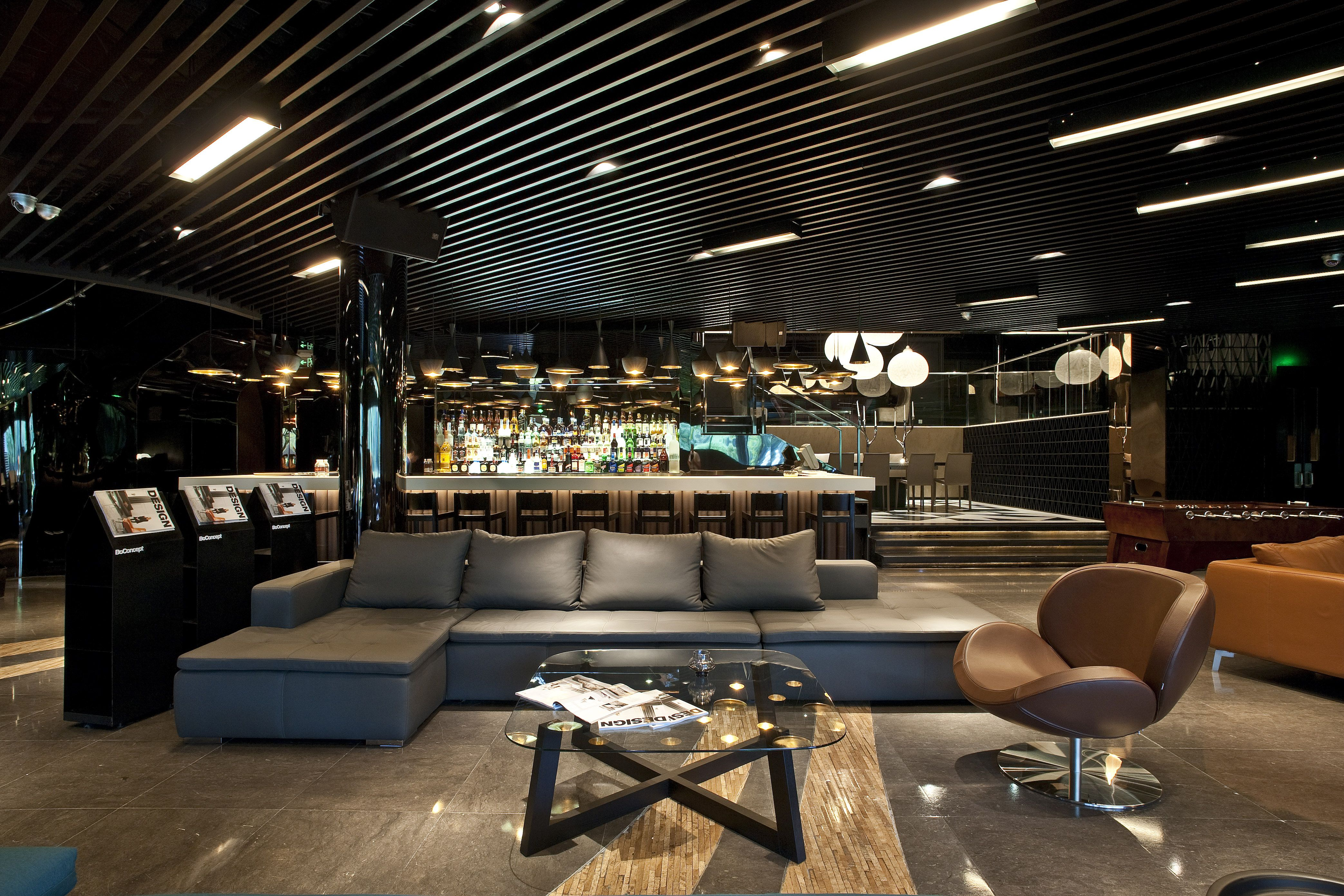 Boconcept Mezzo Sofa And Schelly Chair In Muse Vip Lounge
