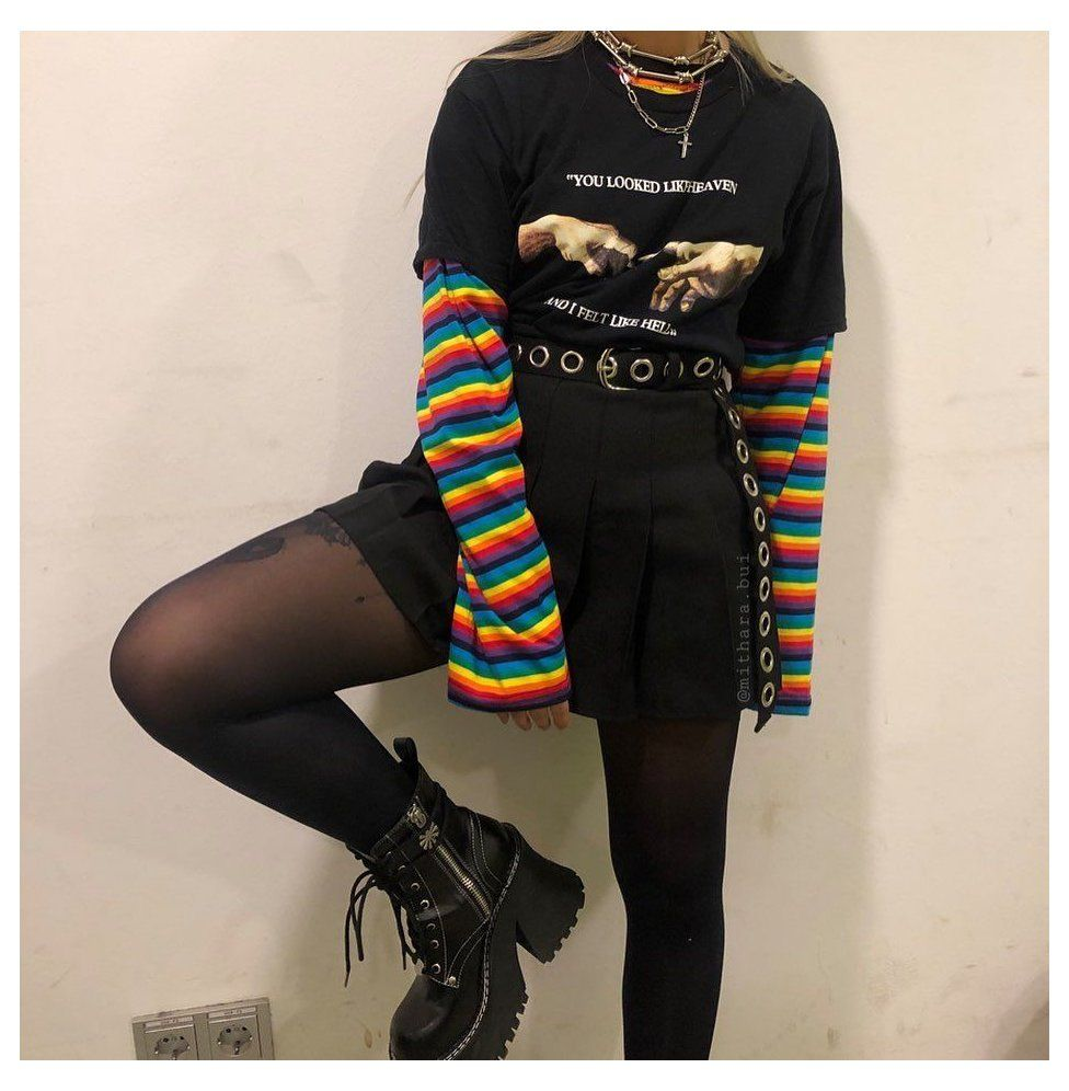 Pin By J On Egirl In 2020 Hipster Outfits Edgy Outfits Cute Outfits