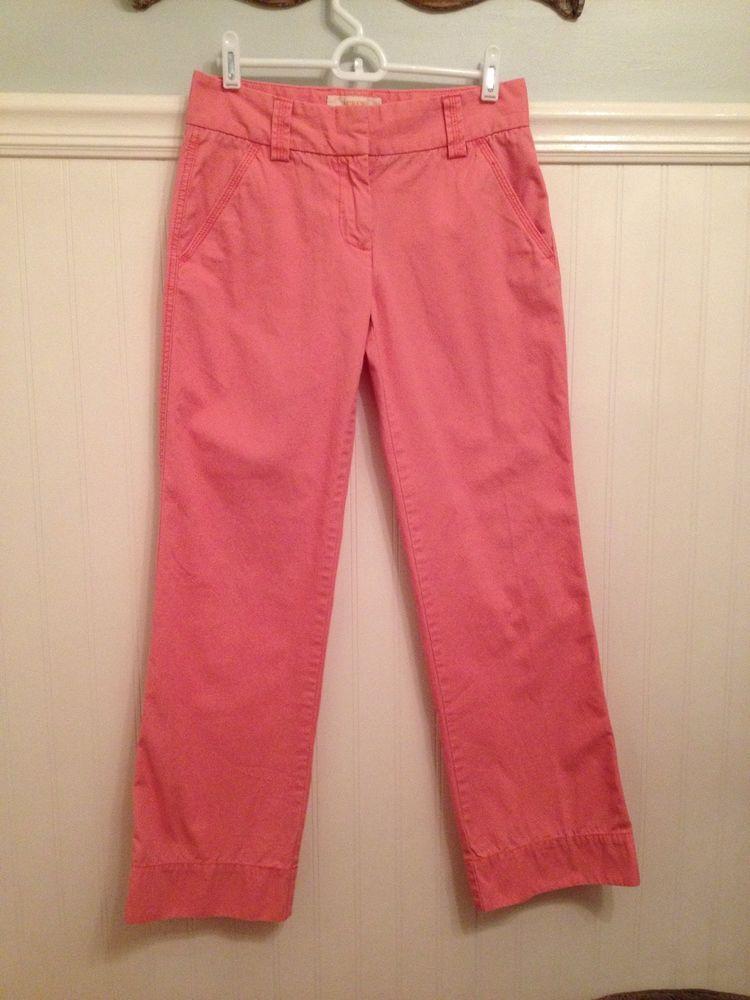 J.CREW Size 0S Pink CHINO Classic TWILL FAVORITE FIT Weathered & Broken In #JCrew #KhakisChinos