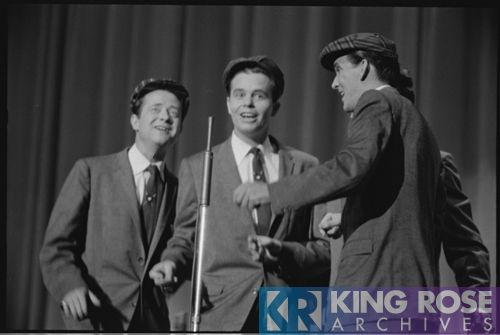 The Jordanaires. Part of the warm up act. Unknown location. May 1956.