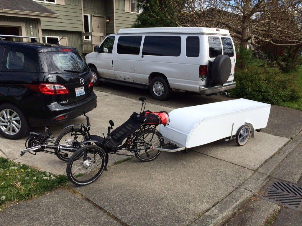 Collapsible bicycle camper - Creative Ideas | Elkins DIY | Cool ...