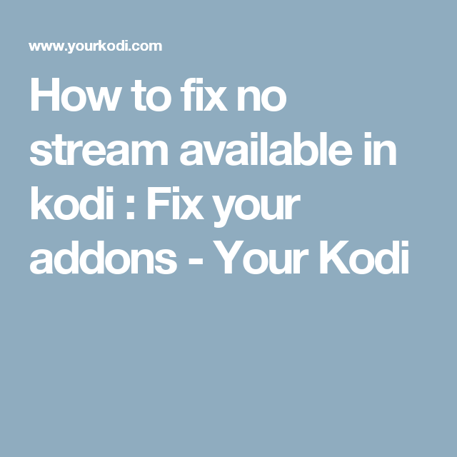exodus no stream available clear cache not working