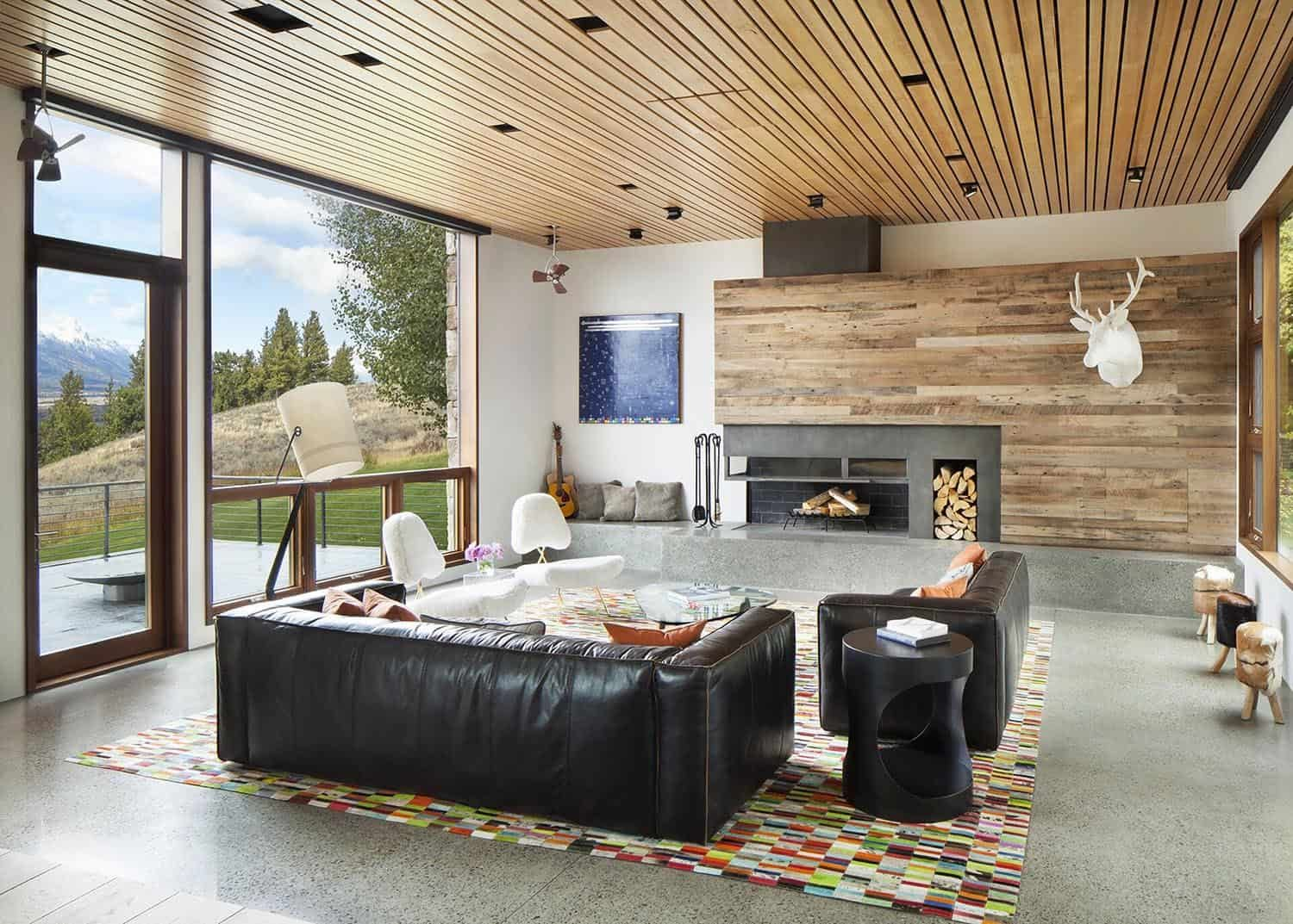 Dream House Retreat Boasts Unforgettable Views Of The Teton Range In 2020 Small Living Rooms Contemporary House Home