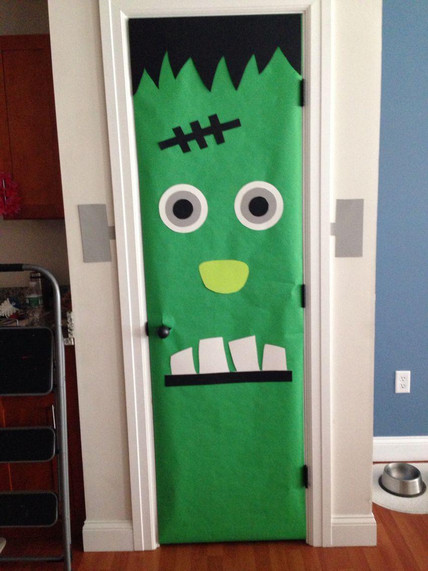 Halloween Frankenstein door! & Halloween Frankenstein door! | DIY | Pinterest | Frankenstein ... pezcame.com