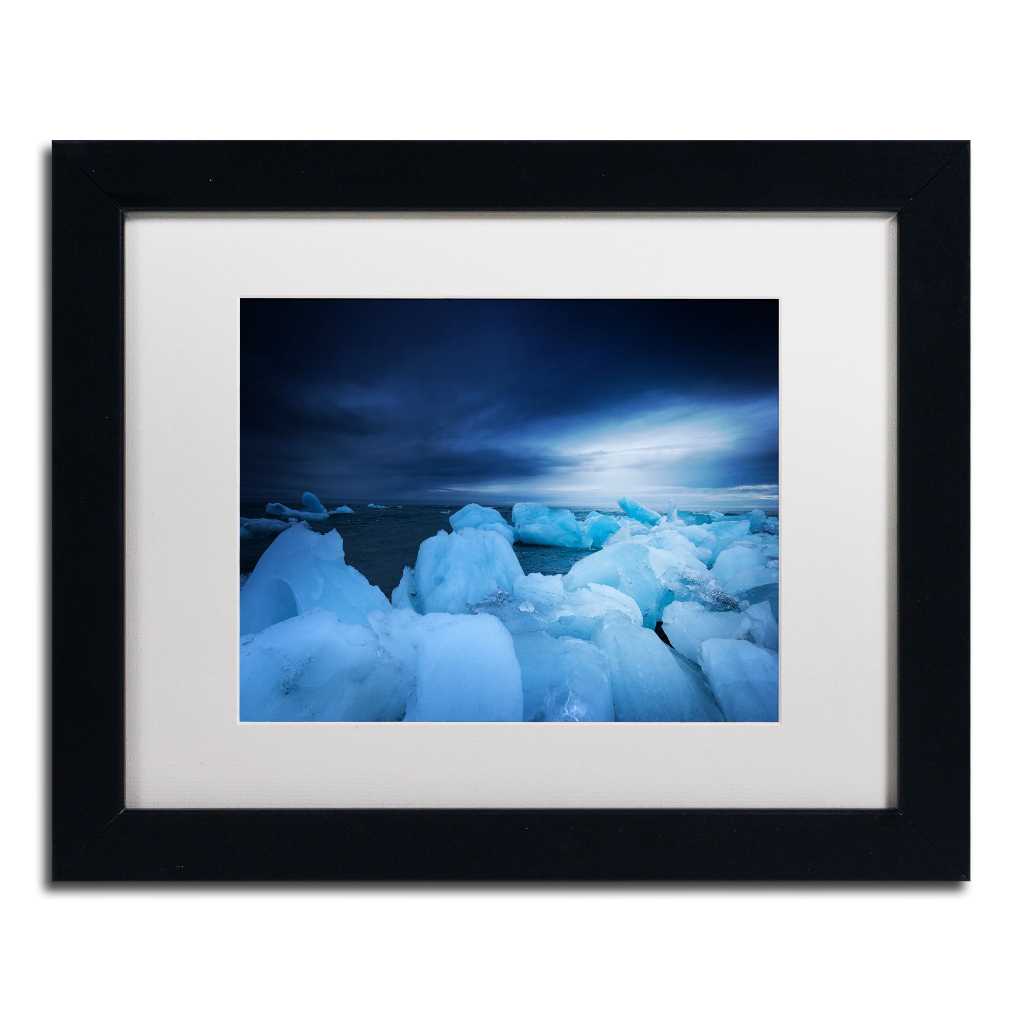Philippe Sainte-Laudy 'Blue Monday' Matted Framed Art
