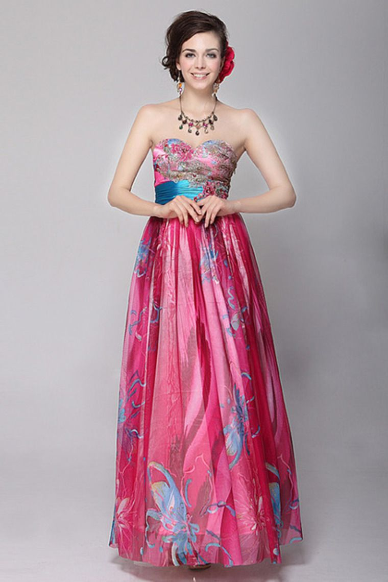 Big Discount Sweetheart A Line Pleated Floor Length Prom Dress Color ...