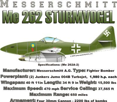 WARBIRDSHIRTS.COM presents Fighters available on Polos, Caps, T-shirts, Sweatshirts and more. featuring here in our Fighter collection the Me 262 Sturmvogel