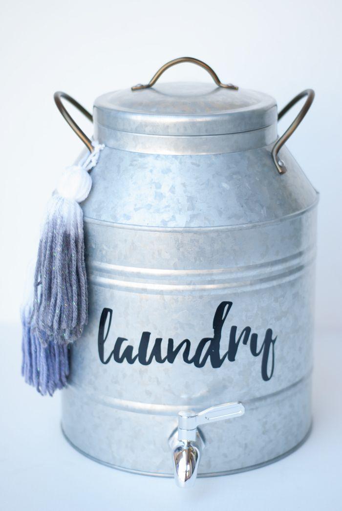 Rustic Glam Bath Caddy Diy Galvanized Tasseled Laundry Soap