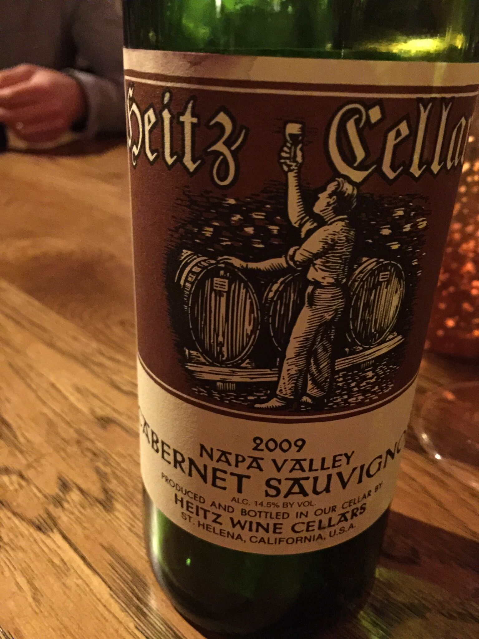 2009 Heitz Cellars Cabernet Sauvignon. This bottle rounded out a fantastic dinner. A classic & 2009 Heitz Cellars Cabernet Sauvignon. This bottle rounded out a ...