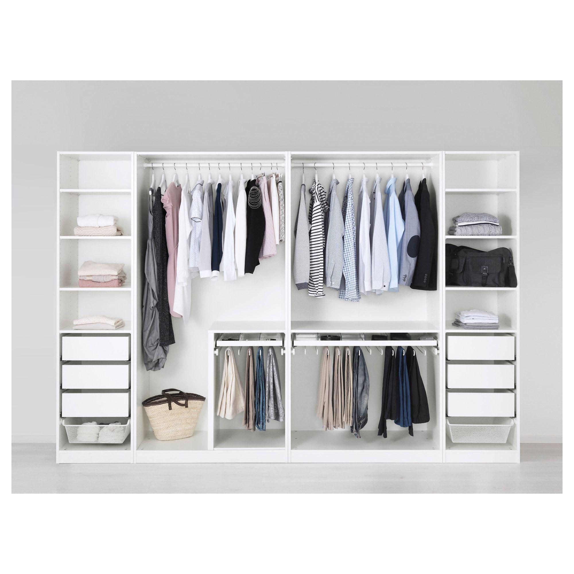 Pax Armoire Penderie Blanc 300x58x201 Cm Garderob Inbyggd