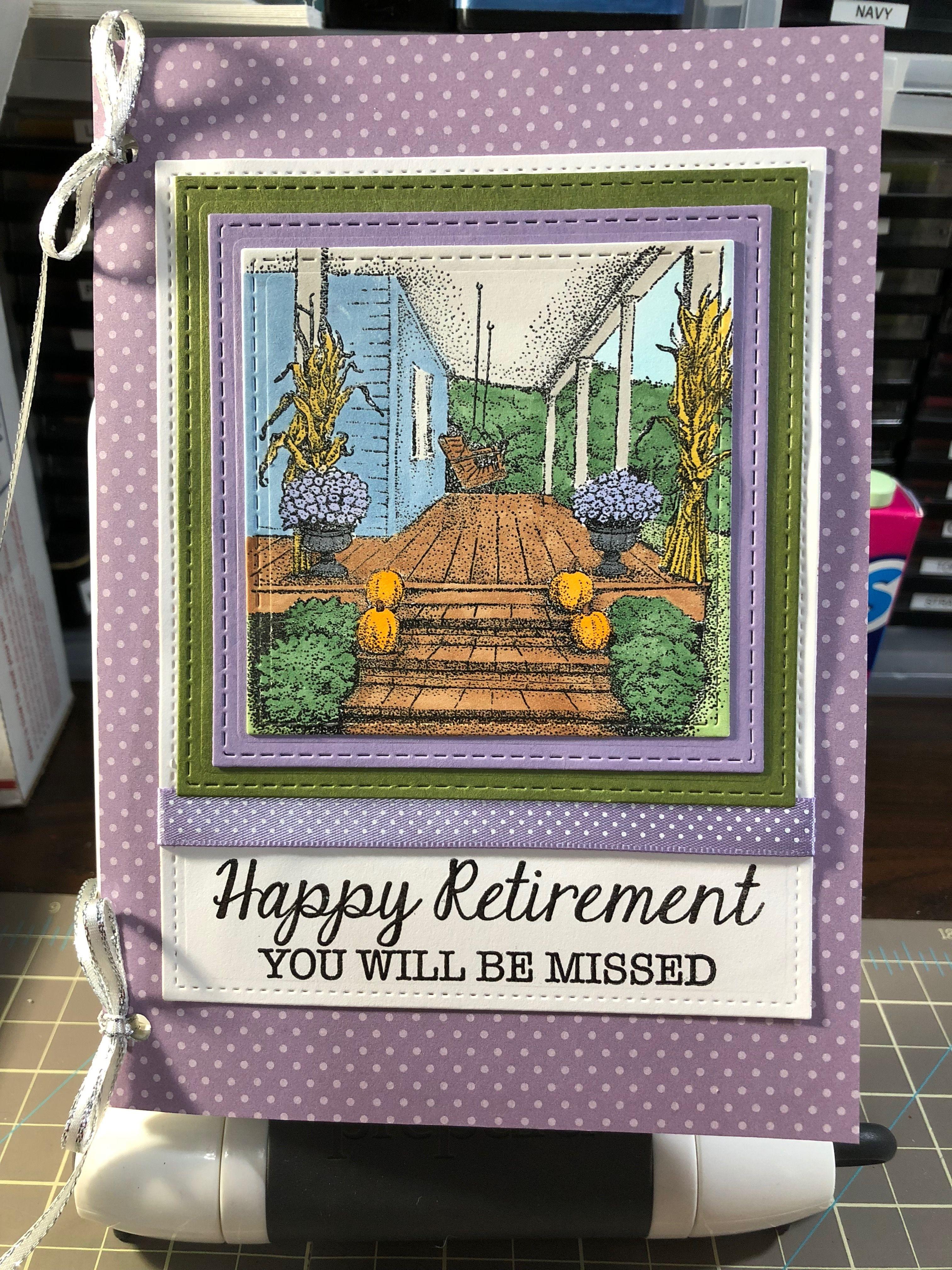 Fun Retirement Card | Retirement cards, Homemade cards, Cards |Handmade Retirement Cards
