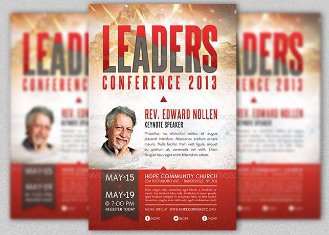 Speaker Flyer Template - Google Search | Speaker Flyer Design