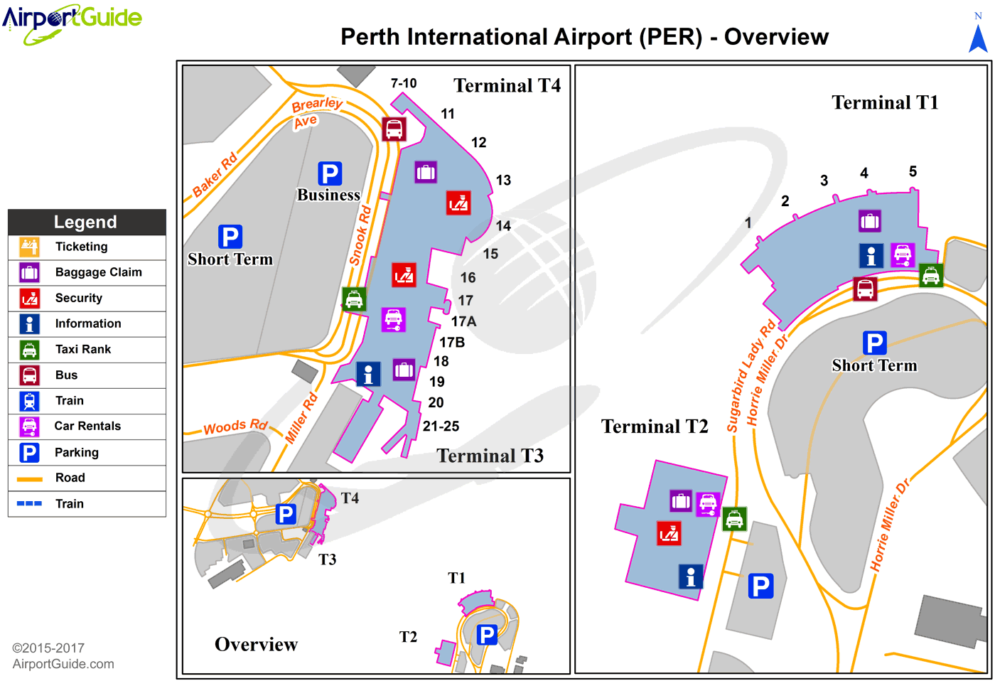 Map Perth International Airport Perth   Perth International (PER) Airport Terminal Map   Overview