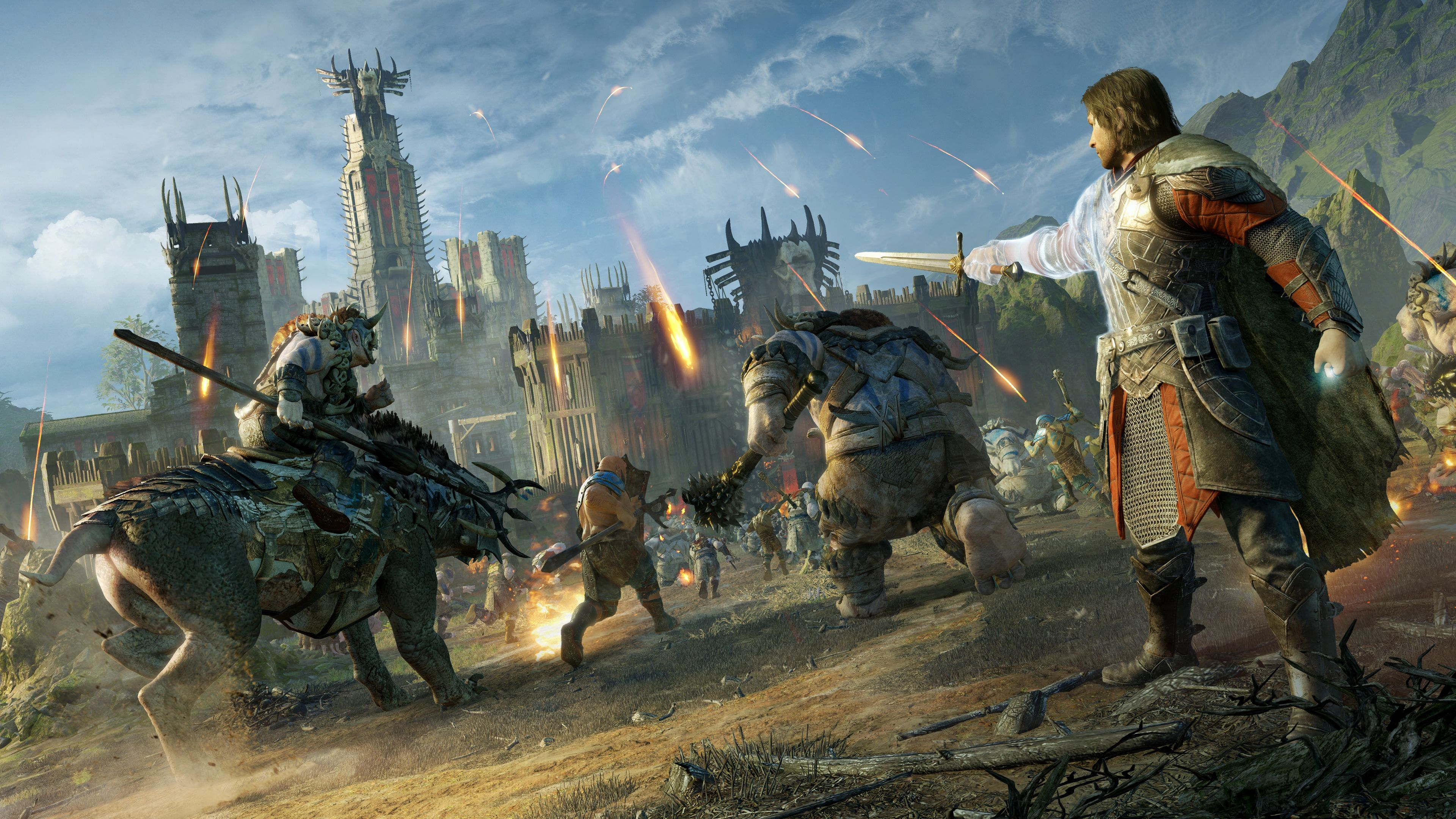 Middle Earth Shadow Of War 4k Fortress Assault Talion And Orcs 3840x2160 Wallpaper Shadow Of Mordor Middle Earth Shadow Middle Earth