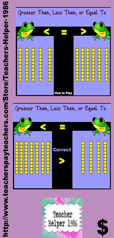 Greater Than Less Than Or Equal To With Base 10 Blocks Is An Exciting Math Flipchart Game That Will Make 1st Grade Math Games First Grade Math Elementary Math