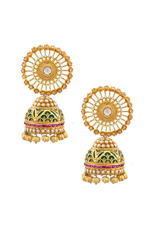 statement tribebyamrapali plated amrapali gold silver jhumkas jewellery earrings buy lotus