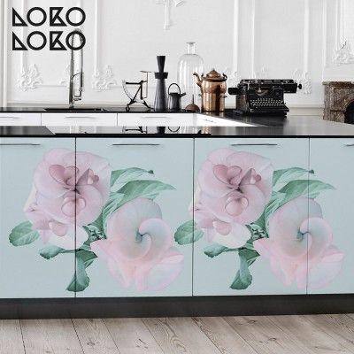 Vinilo con diseño floral en colores pasteles para decorar muebles de ...