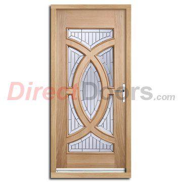Majestic External Oak Door And Frame Set With Zinc Double Glazing
