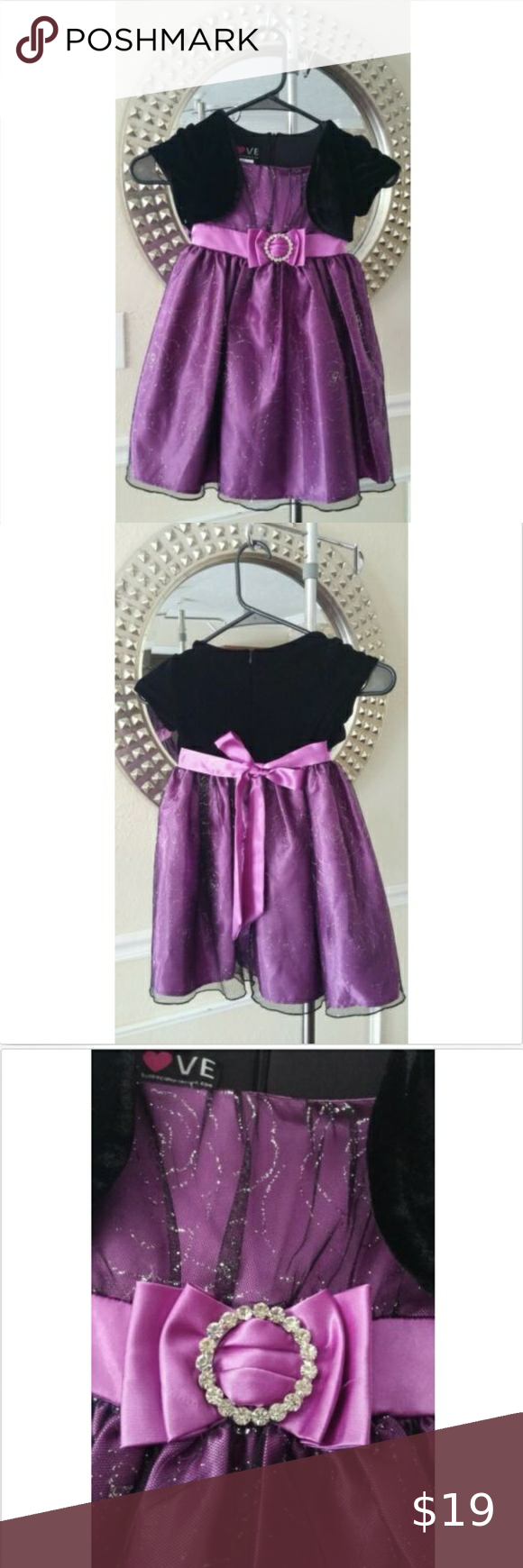 Baby Girl Dress 4t Purple Love Special Occassions Baby Girl Dress Girls Dresses 4t Dress [ 1740 x 580 Pixel ]