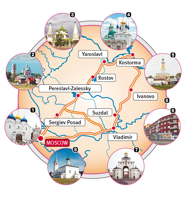 Russian Itineraries Golden Ring Russia Route Golden Ring Russia Russia Travel Russia