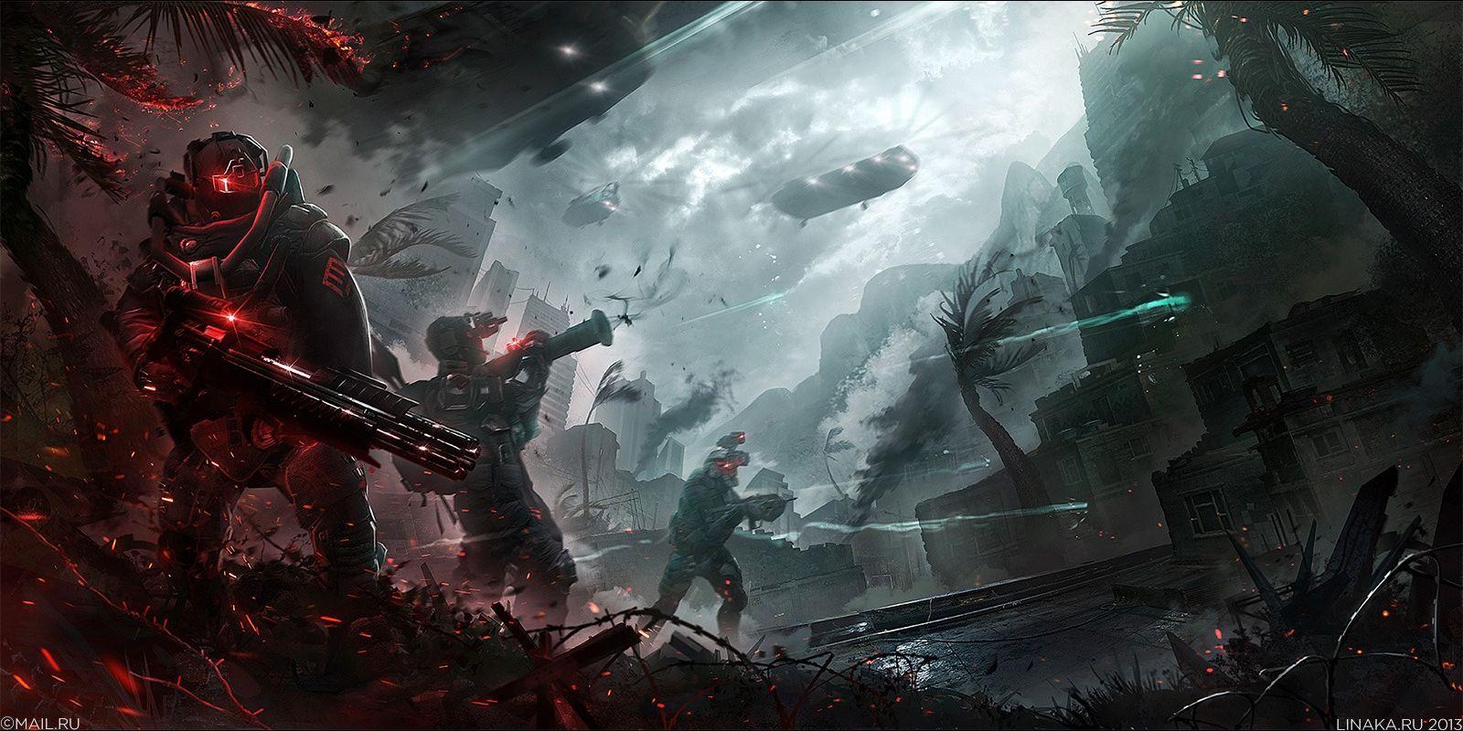 Sci Fi Battle Wallpaper Epic Art Battle Wallpaper Pictures
