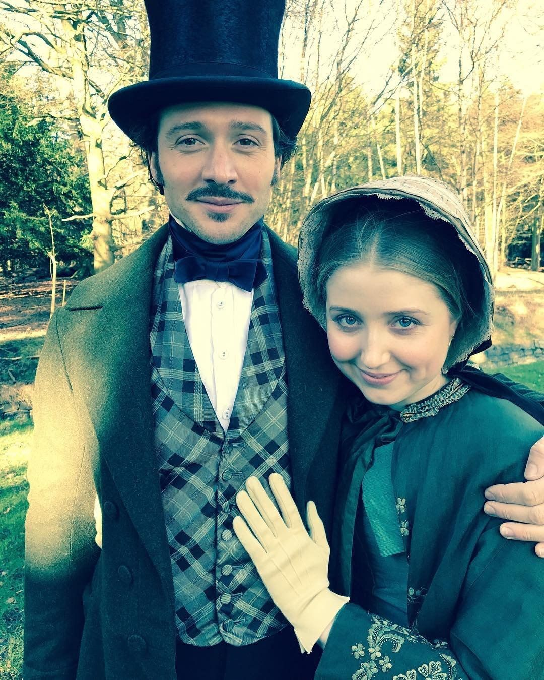 The Honorable Wilhelmina Coke and Prince Ernst, played by Bebe Cave and David Oakes. Victoria S2.