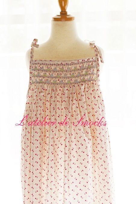 157cad591c Smocked summer dress~counterchange smocking Smocking Tutorial