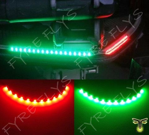 "Marine Led Light Strips Cool 2X Boat Navigation Led Lighting Red & Green 12"" Waterproof Marine Design Ideas"
