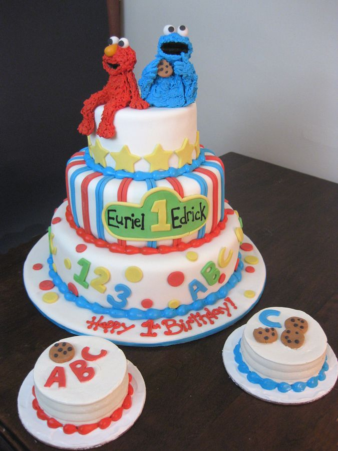 Elmo Cookie Monster Birthday CakeIt would have a 2 instead of a
