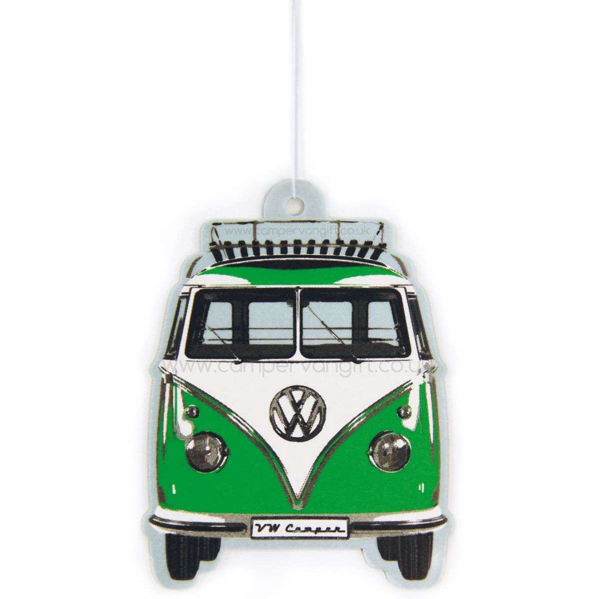 Campervan Gift - VW Campervan Air Freshener - Green Apple, £2.95 (http://www.campervangift.co.uk/vw-campervan-air-freshener-green-apple/)