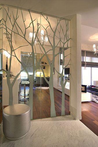 Glass Splashbacks London Mirrored Walls Feature Wall Design House Design Mirrored Wall Glass partition for living room