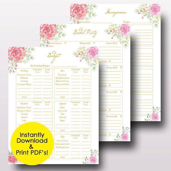 Wedding Planner Printable Wedding Planner Book Binder Etsy Wedding Planner Book Wedding Planning Binder Wedding Planner Printables