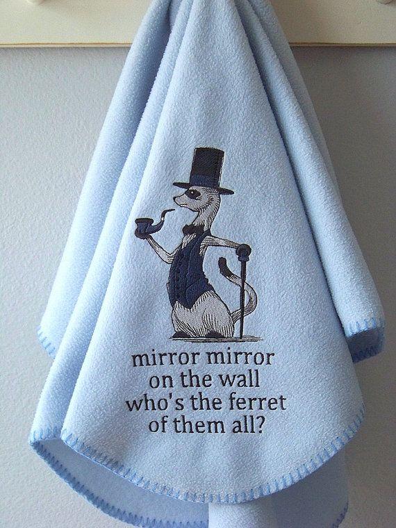 Ferret Fleece Blanket by Madeit4u on Etsy, $25.00