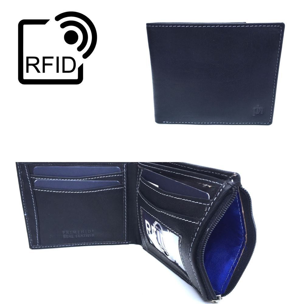 RFID Blocking Prime Hide Mens Luxury Leather Wallet  RFID SAFE 2009