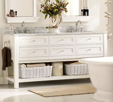 Images On White The Clean Color Choice for Modern and Cottage Bathroom Vanities